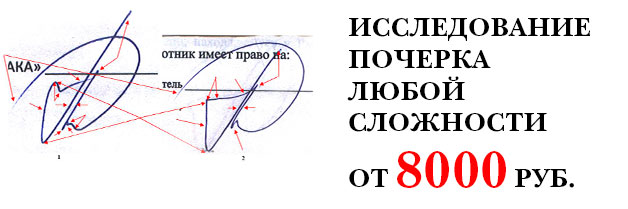 Исследование почерка от 8000 рублей!